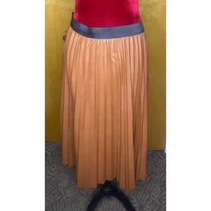 NWT Pleated Faux Leather Skirt by NY & CO
